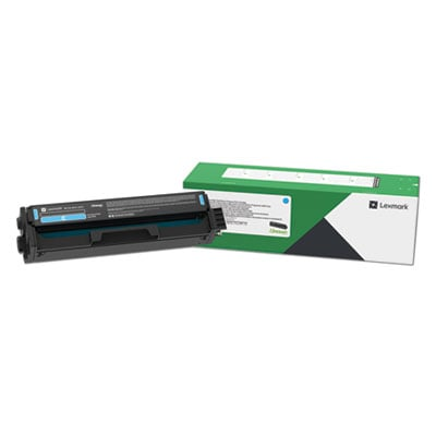 Lexmark C331HC0 Return Program High-Yield Toner Cartridge, 2500 Page-Yield, Cyan