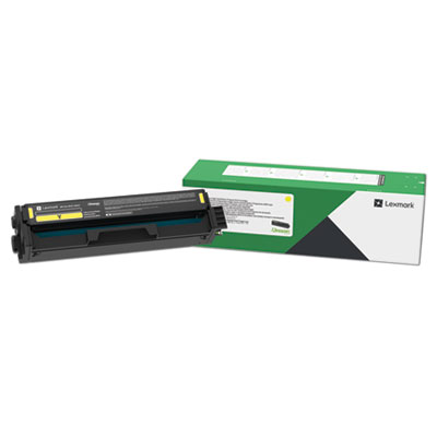 Lexmark C331HY0 Return Program High-Yield Toner Cartridge, 2500 Page-Yield, Yellow