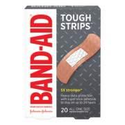 "BAND-AID Flexible Fabric Adhesive Tough Strip Bandages, 1"" x 3.25"", 20/Box (4408)"