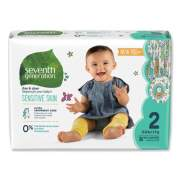 Seventh Generation Free and Clear Baby Diapers, Size 2, 12 lbs to 18 lbs, 144/Carton (44061)