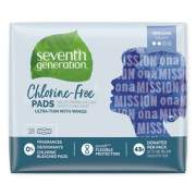 Seventh Generation Chlorine-Free Ultra Thin Pads with Wings, Regular, 18/Pack (450022PK)