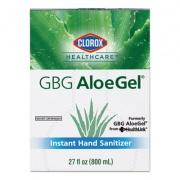 Clorox GBG AloeGel Instant Gel Hand Sanitizer, 800 mL Bag-in-a-Box, 12/Carton (32376)