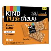 KIND Minis Chewy, Peanut Butter, 0.81 oz 10/Pack (27895)