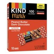 KIND Minis, Peanut Butter Dark Chocolate, 0.7 oz, 10/Pack (27961)