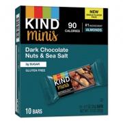 KIND Minis, Dark Chocolate Nuts/Sea Salt, 0.7 oz, 10/Pack (27959)