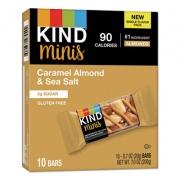 KIND Minis, Caramel Almond Nuts/Sea Salt, 0.7 oz, 10/Pack (27960)