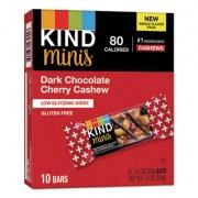 KIND Minis, Dark Chocolate Cherry Cashew, 0.7 oz, 10/Pack (27962)