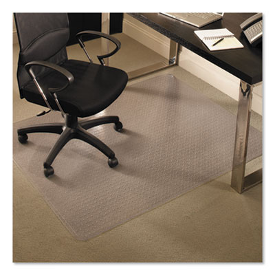 ES Robbins EverLife Chair Mats for Medium Pile Carpet, Rectangular, 46 x 60, Clear (122371)