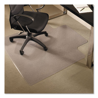 ES Robbins EverLife Chair Mats for Medium Pile Carpet With Lip, 36 x 48, Clear (122073)