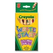 Crayola Write Start Colored Pencils, 5.33 mm, Assorted Lead/Barrel Colors, 8/Box (791582)