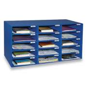 Pacon Classroom Keepers Corrugated Mailbox, 31.5 x 12.88 x 16.38, Blue (637443)