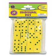 "Teacher Created Resources Traditional Foam Dice, Six Sides, 0.75"" Square, 20/Pack (139497)"