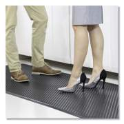 ES Robbins Feel Good Anti-Fatigue Floor Mat, Continuous Runner, 35 x 120, PVC, Black (184545)