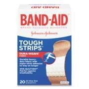 "BAND-AID FLEXIBLE FABRIC ADHESIVE TOUGH STRIP BANDAGES, 1"" X 3.25"", 20/BOX (2675662)"
