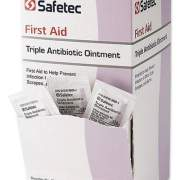 Safetec First Aid Triple Antibiotic Ointment, 0.03 oz Packet, 144/Box (376215)
