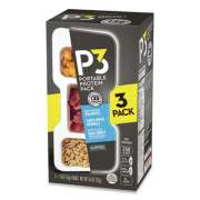 P3 Portable Protein Pack with Planters Peanuts, Honey Roasted Peanuts/Maple Ham Jerky/Sunflower Kernels, 3/Pack (2830803)