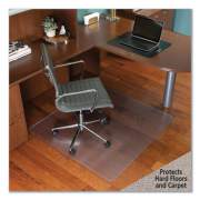 """ES Robbins Floor+Mate, For Hard Floor to Medium Pile Carpet up to 0.75"""", 46 x 48, Clear (121442)"""