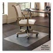 """ES Robbins Floor+Mate, For Hard Floor to Medium Pile Carpet up to 0.75"""", 36 x 48, Clear (121441)"""