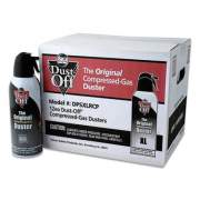 Dust-Off Disposable Compressed Gas Duster, 10 oz Can, 12/Pack (681430)