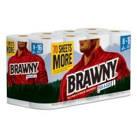 """Brawny Pick-A-Size Perforated Kitchen Roll Towel, 2-Ply, 11"""" x 59 ft, White, 120/Roll, 8 Rolls/Carton (441945)"""