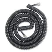 Power Gear Coiled Phone Cord, Plug/Plug, 12 ft, Black (716312)