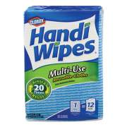 Clorox Handi Wipes, 21 x 11, Blue, 36 Wipes/Pack, 4 Packs/Carton (78225)
