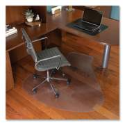 ES Robbins EverLife Workstation Chair Mat for Hard Floors, With Lip, 66 x 60, Clear (132775)