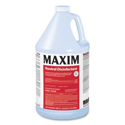 Maxim Neutral Disinfectant, Lemon Scent, 1 gal Bottle, 4/Carton (04020041)
