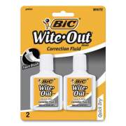 BIC Wite-Out Quick Dry Correction Fluid, 20 mL Bottle, White, 2/Pack (781671)