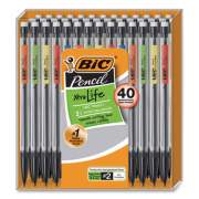 BIC Xtra Smooth Mechanical Pencil, 0.7 mm, HB (#2), Black Lead, Clear Barrel, 40/Pack (24276526)