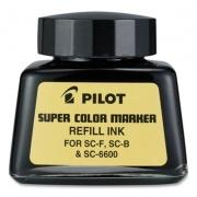 Pilot Super Color Marker Refill Ink, 30 mL Bottle, Black (810639)