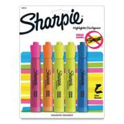 Sharpie Tank Style Highlighters, Chisel Tip, Assorted Colors, 5/Pack (356459)