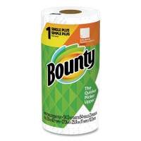 Bounty Kitchen Roll Paper Towels, 2-Ply, White, 48 Sheets/Roll, 24 Rolls/Carton (02914)