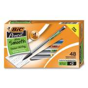 BIC Xtra Smooth Mechanical Pencil Value Pack, 0.7 mm, HB (#2.5), Black Lead, Clear Barrel, 40/Pack (MP48BK)