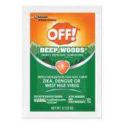 OFF! Deep Woods Towelette, 0.28 Box, Unscented, 12/Box (611072BX)
