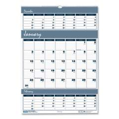 House of Doolittle Recycled Bar Harbor Three-Months-per-Page Wall Calendar, 12 x 17, 2020-2022 (342)