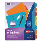 Avery Big Tab Write and Erase Durable Plastic Dividers, 8-Tab, Letter, Assorted, 1 Set (2609668)