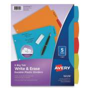 Avery Big Tab Write and Erase Durable Plastic Dividers, 5-Tab, Letter, Assorted, 1 Set (2609669)