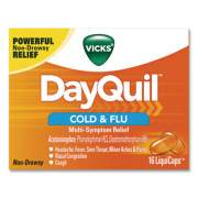 DayQuil Cold and Flu Multi-Symptom Relief LiquiCaps, 16/Box (1290284)