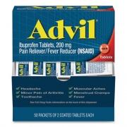 Advil Ibuprofen Tablets, Two-Packs, 50 Packs/Box (BXAVL50BX)