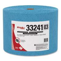 WypAll Oil, Grease and Ink Cloths, Jumbo Roll, 9 3/5 x 13 2/5, Blue, 717/Roll (33241)