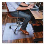 ES Robbins Sit or Stand Mat for Carpet or Hard Floors, 36 x 53 with Lip, Clear/Black (184612)