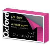 Oxford Self-Stick Index Cards, 3 x 5, Pink, 100/Pack (61200E)