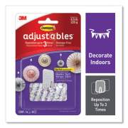 Command Adjustables Repositionable Mini Hooks, Plastic, White, 0.5 lb Capacity, 14 Hooks and 30 Strips (24399720)