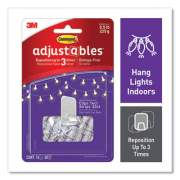 Command Adjustables Repositionable Mini Clips, Plastic, White, 0.5 lb Capacity, 14 Clips and 12 Strips (24399721)