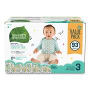 Seventh Generation Free and Clear Baby Diapers, Size 3, 16 lbs to 24 lbs, 93/Carton (24400163)