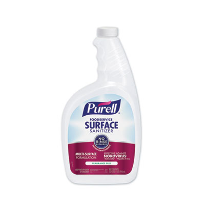 PURELL Foodservice Surface Sanitizer, Fragrance Free, 32 oz Spray Bottle, 6/Carton (334106CT)