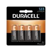 Duracell Specialty High-Power Lithium Batteries, 123, 3 V, 4/Pack (DL123AB4PK)