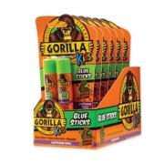 Gorilla Glue School Glue Sticks, 0.21 oz/Stick, Dries Clear, 12 Sticks/Box (2605208BX)