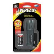 Eveready COMPACT LED METAL FLASHLIGHT, 3 AAA (INCLUDED), SILVER (2661182)
